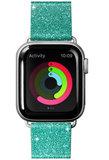 LAUT Sparkle Leather Apple Watch 40 mm bandje Mint