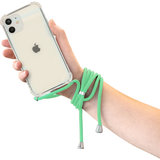 Mobiparts Lanyard iPhone 12 / iPhone 12 Pro hoesje Groen