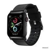 Nomad Active Pro Leather Apple Watch 44 / 42 mm bandje Bruin Zilver