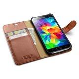 Spigen Wallet Galaxy S5 Brown