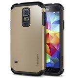 Spigen Tough Armor case Galaxy S5 Gold