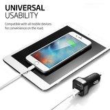 Spigen Dual Port USB auto oplader 4,8 Ampere Black