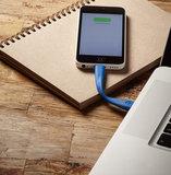 mophie memory flex Lightning kabel 10 cm Blue