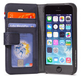 Decoded Leather Wallet iPhone SE/5S hoes Navy