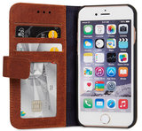Decoded Leather Book Wallet iPhone 6/6S hoesje Brown