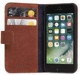 Decoded Leather Book Wallet iPhone SE/5S hoesje Brown