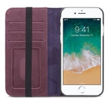 Decoded Leather Wallet iPhone 8/7 hoesje Paars