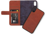 Decoded Leather 2 in 1 Wallet iPhone XS Max hoes Bruin