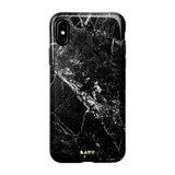 LAUT Huex Marble iPhone Xs Max hoesje Zwart