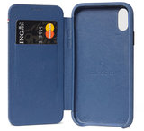 Decoded Leather Slim Wallet iPhone XS Max hoes Blauw