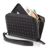 Decoded Leather Studs Wallet Black