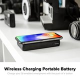 mophie Powerstation Wireless 10K draadloze powerbank Zwart