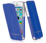 Pipetto Leather Skinny Flip iPhone 5/5S Snakeskin Purple