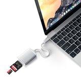 Satechi USB-C naar SD kaart lezer Zilver