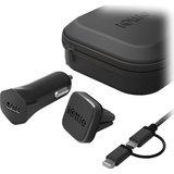 iOttie iTap autohouder met USB oplader reisset Zwart