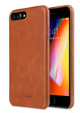 Melkco Leather backcover iPhone 8 Plus hoesje Bruin