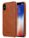 Melkco Leather Backcover iPhone XS hoesje Bruin
