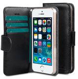 Melkco Wallet iPhone SE/5S hoesje Zwart