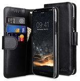Melkco Wallet iPhone XS hoesje Zwart