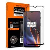 Spigen Full Cover Glass OnePlus 7 screenprotector Zwart