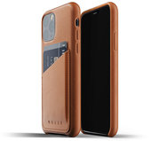 Mujjo Leather Wallet iPhone 11 Pro hoesje Tan