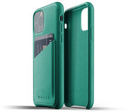 Mujjo Leather Wallet iPhone 11 Pro hoesje Groen