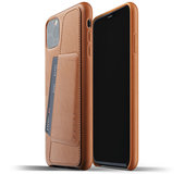 Mujjo Leather Wallet iPhone 11 Pro Max hoes Bruin