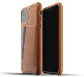 Mujjo Leather Wallet iPhone 11 hoesje Bruin