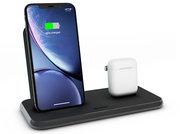 ZENS Stand + Dock Aluminium draadloze oplader 20 watt Zwart