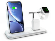 ZENS Stand + Dock + Apple Watch Aluminium draadloze oplader Wit