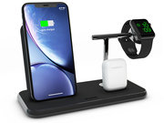 ZENS Stand + Dock + Apple Watch Aluminium draadloze oplader Zwart