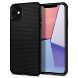 Spigen Liquid Air iPhone 11 hoesje Zwart