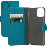Mobiparts Saffiano Wallet iPhone 11 Pro hoesje Turquoise