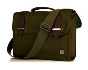 Knomo Padstow Canvas Brief Messenger 13 inch Olive Green