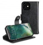 Xqisit Wallet Eman 2 in 1 iPhone 11 wallet hoesje Zwart