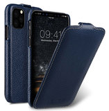 Melkco Leather Jacka iPhone 11 hoesje Blauw