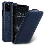 Melkco Leather Jacka iPhone 11 hoesje Blauw