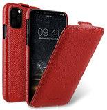 Melkco Leather Jacka iPhone 11 hoesje Rood