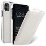 Melkco Leather Jacka iPhone 11 hoesje Wit