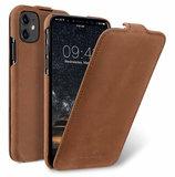 Melkco Leather Jacka iPhone 11 hoesje Bruin