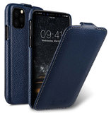 Melkco Leather Jacka iPhone 11 Pro hoesje Blauw