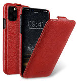 Melkco Leather Jacka iPhone 11 Pro hoesje Rood