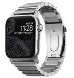 Nomad Roestvrijstaal Apple Watch 45 / 44 / 42 mm bandje Zilver