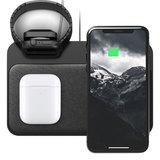 Nomad Leather iPhone + Apple Watch draadloos oplaadstation Zwart