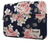 TechProtection Flower MacBook Pro 16 inch sleeve Navy