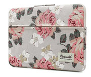 TechProtection Flower MacBook Pro 16 inch sleeve Wit