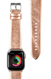 LAUT Metallic Leather Apple Watch 40 mm bandje Goud