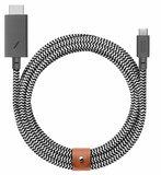 Native Union Belt USB-C naar HDMI 60Hz kabel Zebra