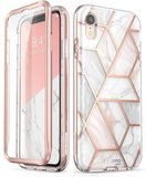 Supcase Cosmo Marble iPhone XR hoesje Roze