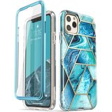 Supcase Cosmo Marble iPhone 11 Pro Max hoes Blauw